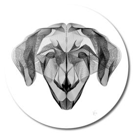 Minimal Abstract Lines Dog Print