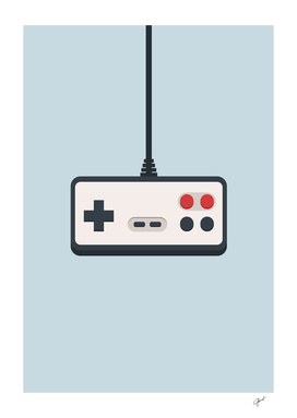 Retro joystick gamepad 80's-90's vector illustration