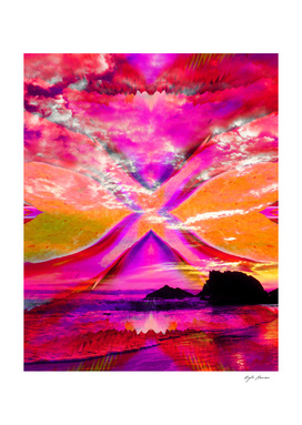 La Piedra Beach Sunset Art