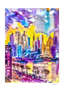 The colorful New York city