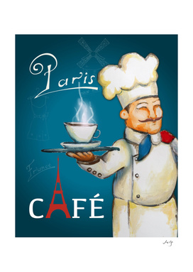 paris coffee sign
