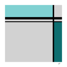 Cross Lines in turquoise