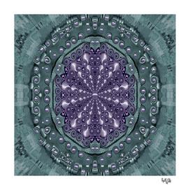 Star and flower mandala in wonderful colors