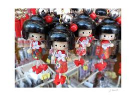 Wooden Geisha puppets, Nakamise street, Tokyo