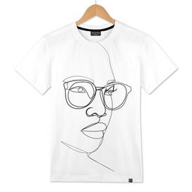 Woman Figure With Eyeglasses
