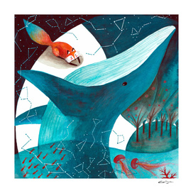 Fox and Cosmic Whale 2