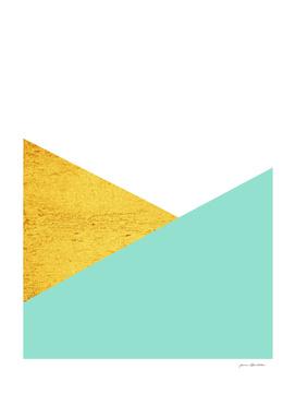 Gold & Aqua Blue Geometry