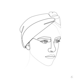 Woman Wearing Headband