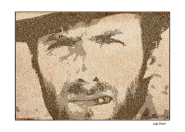 Text Portrait with Script of The Good, The Bad, The Ugly