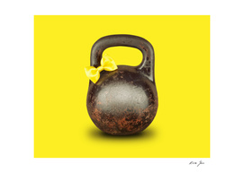 Abstract funny old kettlebell