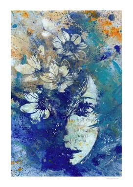 My Great Devastator II blue | flower girl graffiti painting