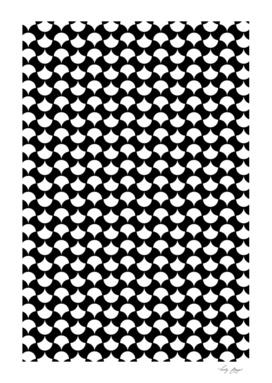 Black White  Petals Pattern