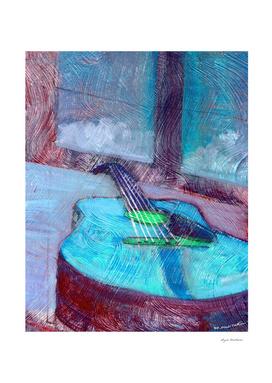 cool guitar print