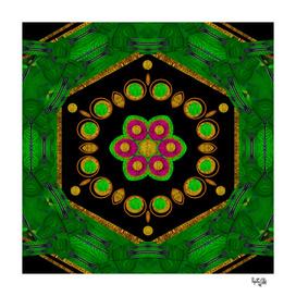Magic of life a Orchid Mandala so bright