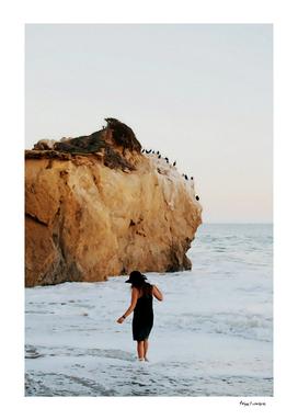A Lady on the Beach