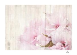 Painted Flowers on Wood