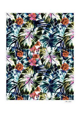 Tropical abstract foliage