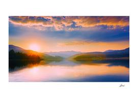 Romanian Lake Scene