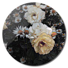 Tea rose and chamomile