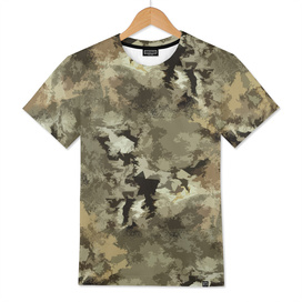 Camouflage pattern in beige green colors