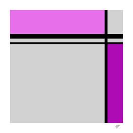 Cross Lines pink/purple