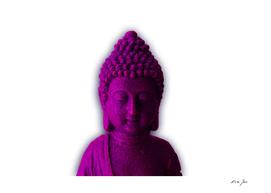 Ultra Violet Calm Buddha face