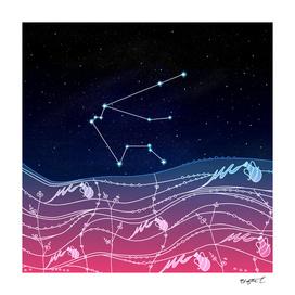 Aquarius Zodiac Constellation Design
