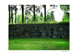 Wall  Skogskyrkogården, The Woodland Cemetery