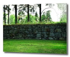 Wall  Skogskyrkogården, The Woodland Cemetery