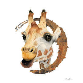 Chew 2 | Giraffe Watercolor Painting