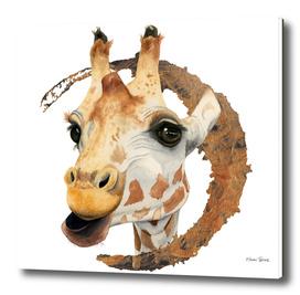 Chew 2 | Giraffe Watercolor Painting
