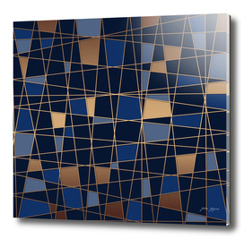 Abstract blue geometric pattern