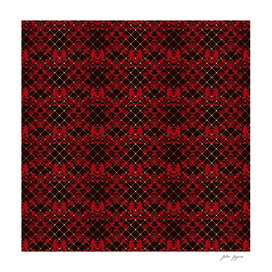 Lace red black seamless pattern