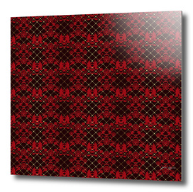 Lace red black seamless pattern