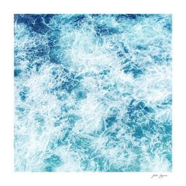 Sea ocean waves blue white