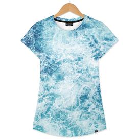 Sea ocean waves blue white