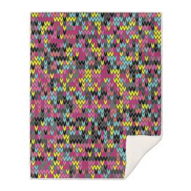 Stitches seamless pattern melange