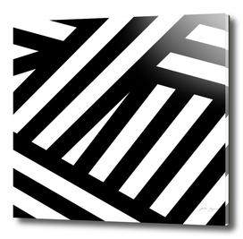 Lines black, white stripes