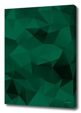 Green polygonal pattern