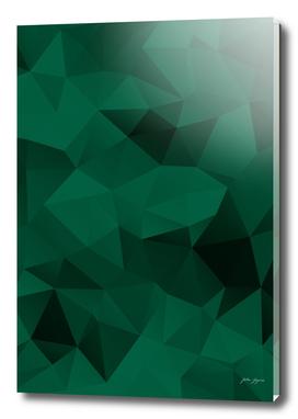 Green polygonal pattern