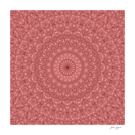 Mandala traditional pink circle ornament print