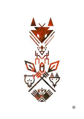 Tribal Sign Animals Wolf Bear Fox