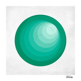 Circle Study in Green 1