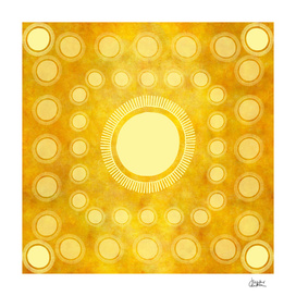 """Gold & Yellow Ethnic Sun (Pattern)"""