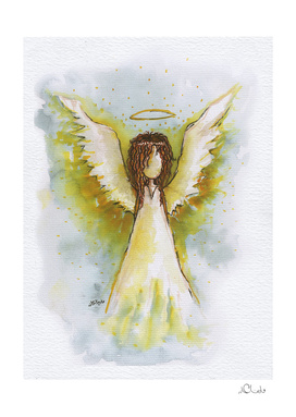 Angel Watercolor Painting
