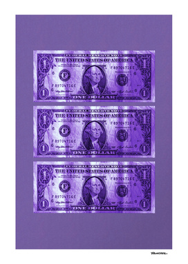 Greenback Front – 3 Dollar – Ultra Violet
