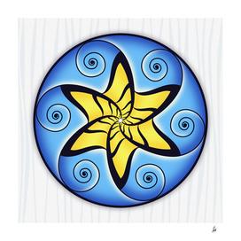 Mandala SPiraled Star