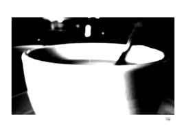 Black & White High Contrast Coffee Cup
