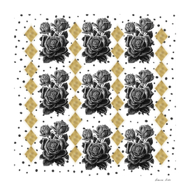 Black Rose and Diamond golden shapes