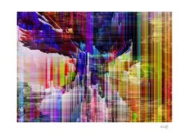 rainbow glitchy x
